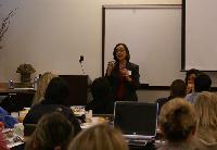 JoAnn speaking at San Mateo County Training Workshop