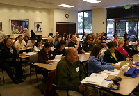 Attendees at the San Mateo County trian the trainers workshop.